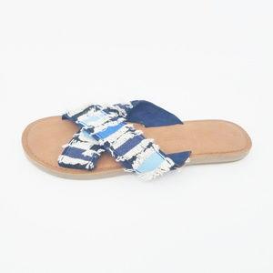 TOMS Viv Women's Sandals Navy Coupe Denim Slip On